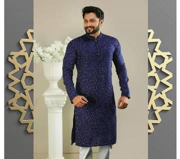 Cotton Semi Long Punjabi For Men