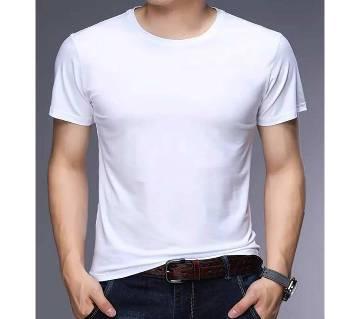 Solid Color Summer Comfortable Menz Cotton T-shirt