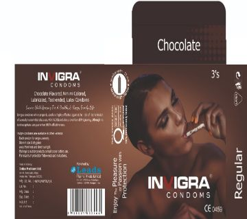 chocolate- chocolate flavoured, brown coloured, lubricated, teat-ended, latex condoms for an exuberant romance