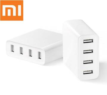 Original Xiaomi Mi 4 Ports USB Charger 2A Fast Charging 35W High Power USB 2.0 Charging Device - White