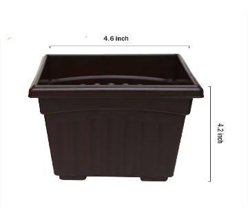 Square plastic pot 4.6 inches