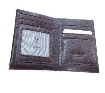 Leather Wallet For Men Chocolate color.