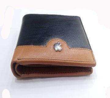 Original Leather Wallet For Men Black & Mustard color