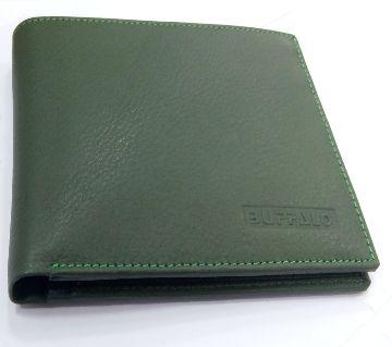 Original Leather Wallet For Men Green color.
