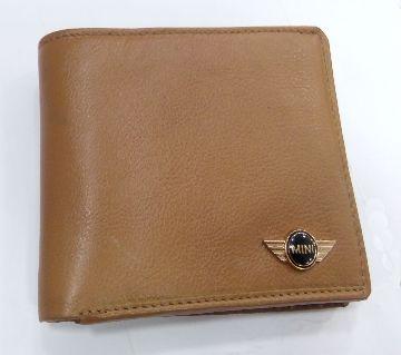 Original Leather Wallet For Men Mustard color.