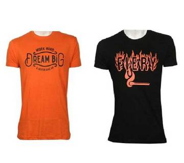 Mens Half sleeve Cotton T Shirt Combo Offer