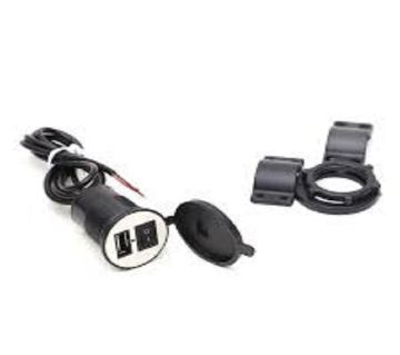 USB Motore Bike Cell Phone Charger - Black
