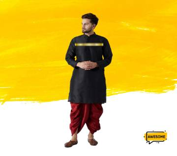 Golden Strap on black panjabi