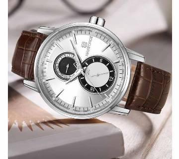 NAVIFORCE 3005 Fashion Retro Fashion Design Bracelet Leather Watch Alloy Quartz Wrist Watch Luxury Watches Mens Sport Watch Mens