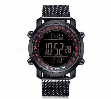 Men Top Brand NAVIFORCE Military Stainless Steel Mens Watches LED Watches Sports Digital Watch Waterproof D Wrist Watch Mens Watches