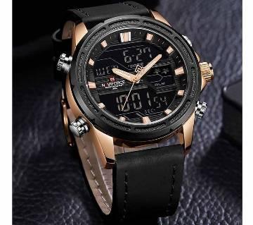 Naviforce 9138 Mens Quartz Luxury Leather Watch Fashion Digital Wrist Watch Digital Watches Mens Watch Watches