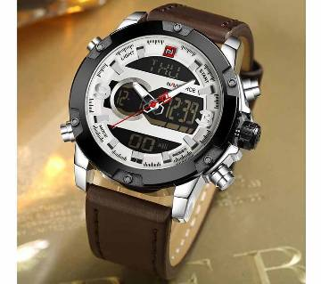 Naviforce NF9097 Fashion Dual Display Attractive Watch For Men Quartz Digital Double Movement Naviforce Brand Business Male Watches
