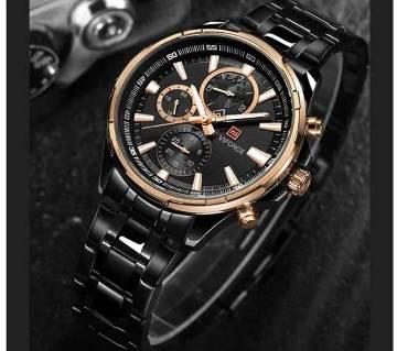 Top Luxury Brand NAVIFORCE 9089 Mens Business Watches Men Quartz 24 Hours Date Clock Man Full Stainless Steel Sports Wrist Watc