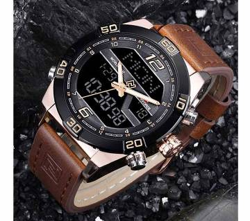 NAVIFORCE Mens Watches Luxury Brand New D D Water Date Watch Mens Casual Leather Band Mens Quartz Watch Sports Watch