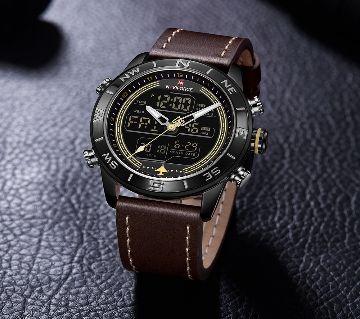 Luxury Brand Men NAVIFORCE Watch Led Digital Leather Sports Watches Man Quartz Clock Mens Army Military Watc