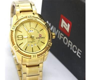 New NAVIFORCE 9117 Men Watches Sport Quartz Watches Men Wrist Stainless Steel Men Clock