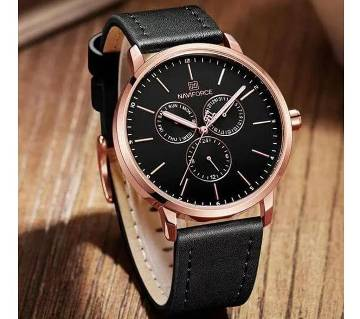 2019 NAVIFORCE 3001 Multifunction Mens Quartz Watch Wrist Watches Top Brand Mens Casual Leather Waterproof D Mens Watch Mens Watch