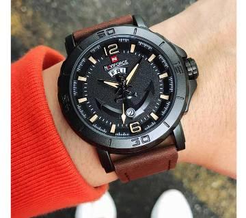 NAVIFORCE 9122 Luxury Brand Men Military Sport Watches Men Analog Quartz Clock relogio masculino Leather Waterproof Wrist Watch