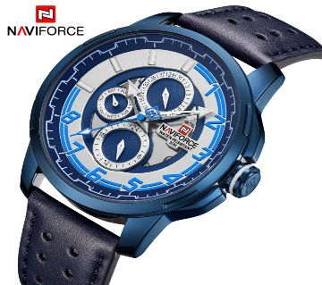 NAVIFORCE 9142 Chronograph Luxury Brand Men Casual Watch 24 Hours Date and week Display