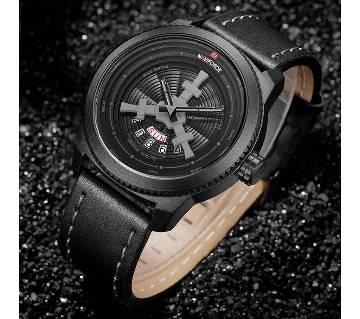 NAVIFORCE 9156 Top Luxury Brand Men Quartz Date, Week Display Men Leather Army Military Sports Watch