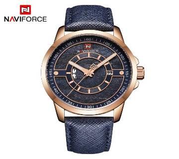 NAVIFORCE  9151 Top Luxury Brand Men Quartz Date, Week Display Men Leather Army Military Sports Watch