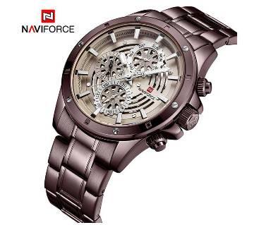 NAVIFORCE 9149 Luxury Brand Men Fashion, Casual, Sports Stainless Steel Quartz Watch Date Week Calendar 24 Hour display