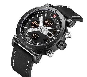 NAVIFORCE 9132 Luxury Brand Sports Military Dual Display Wristwatch