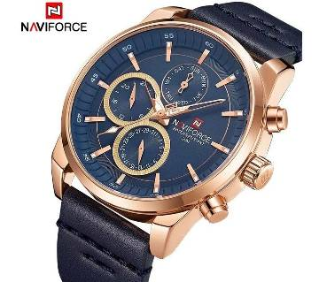 Naviforce Genuine Leather Chronograph Wrist watch for Men -NF9148