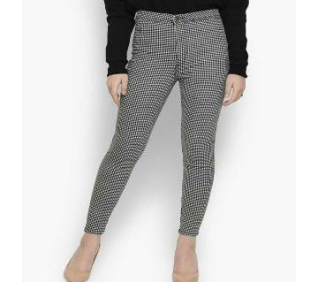 Small check trouser for women