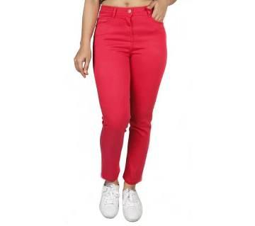 Ladies super spandex cropped jeans