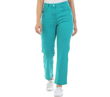 Ladies supper stretched cropped jeans