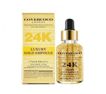 Covercoco LONDON Luxury 24kGold Ampoule serum, 30ml-UK