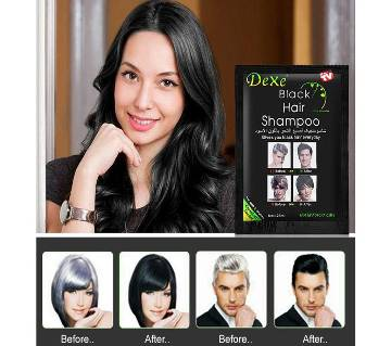Dexe Black Hair Shampoo(1 box-10 pis)-25ml-UK
