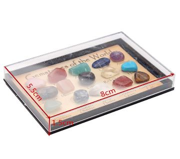 Rocks Collection Mix Gems Crystals Natural Mineral Ore Specimens Box Set Dcor