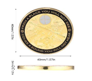 Meaningful Gold Plated Soldier Sniper Commemorative Coin Gift