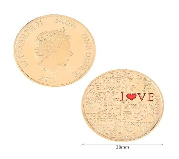 LOVE Poll Gold Plated Fancy Commemorative Coin