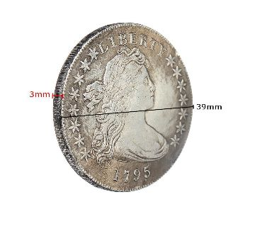 Flowing Hair Half Dollar Coin United States Of Liberty American Coins USA 1795