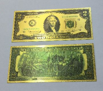 Gold Foil Currency Bill Note