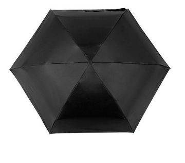 Mini Pocket Capsule Umbrella Waterproof UV Rain Umbrella-Black