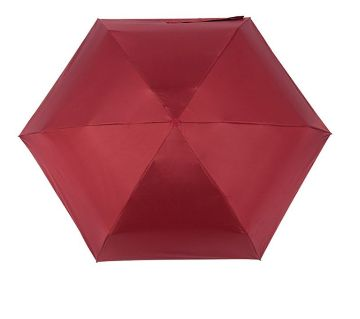 Mini Pocket Capsule Umbrella Waterproof UV Rain Umbrella-Red
