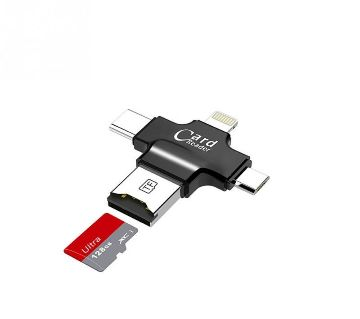 4 in 1 USB Card Reader For iPhone and Android