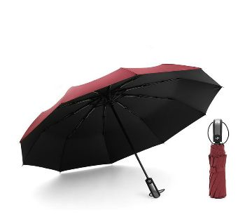 Auto Open Close Windproof Umbrella-Red