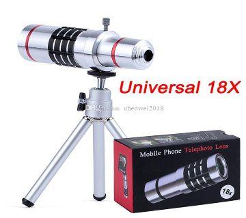 18X Telephoto Lens Mobile Phone 18x Optical Zoom Telescope with Aluminum Alloy Tripod