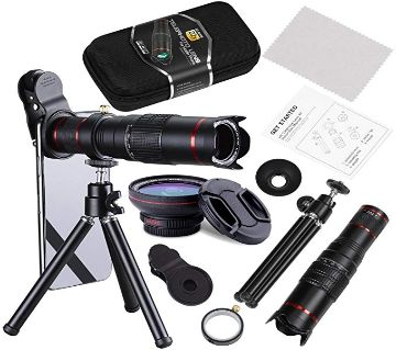 22X Telephoto Zoom Camera Lens Kit Double Regulation HD Scale Distance FOV Cell Phone Lens Attachment with Tripod