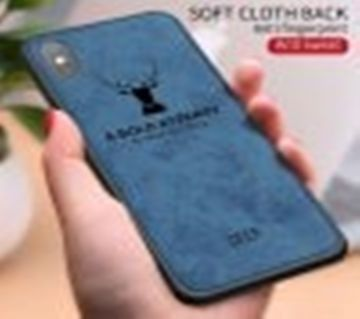 Sweat-proof Cloth Pattern 3D Deer Design Coque Phone Case For iPhone X - Blueberry Blue