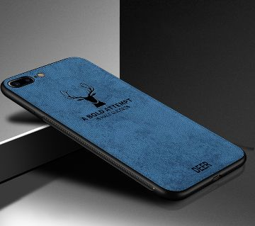Deer Pattern Protector Back Cover For iPhone 7/8-Blue