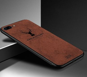 Deer Pattern Protector Back Cover For iPhone 7/8-coffe