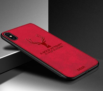 Deer Pattern Protector Back Cover For iPhone 7/8-Red