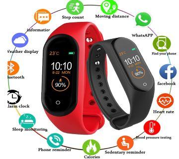 M4 Smart Bracelet Band Fitness Tracker -Black