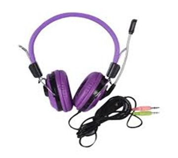 KT-5000MV Stereo On-Ear Headphone with Mic for Computer(Purple)